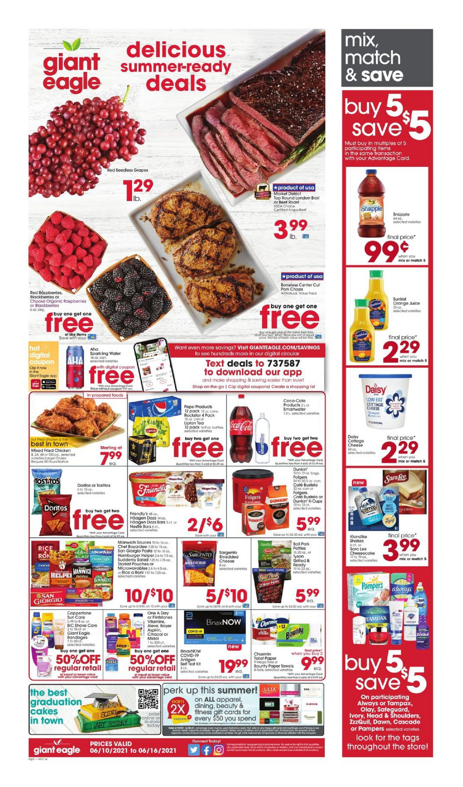 Giant Eagle Weekly ad Flyer June 10 - June 16, 2021