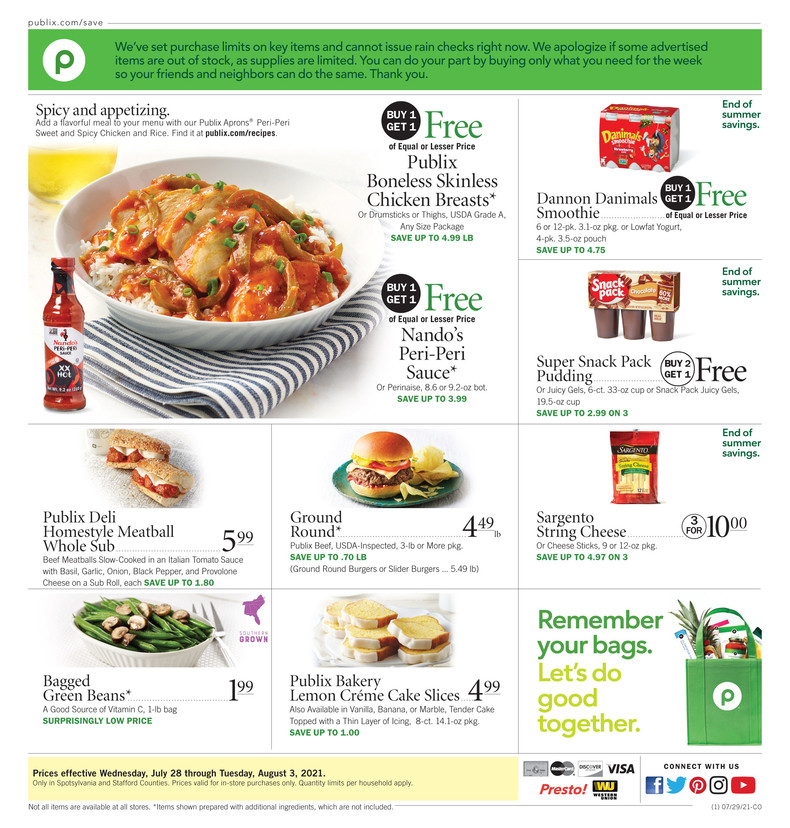 Publix Weekly ad 7/28/2021 - 3/8/2021