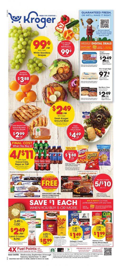 Kroger Weekly Ad September 8 – September 14, 2021