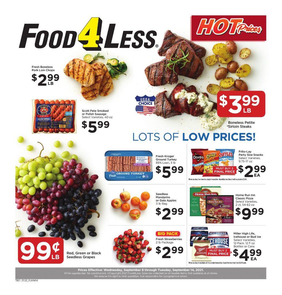 Food 4 Less Weekly ad September 8 – September 14, 2021