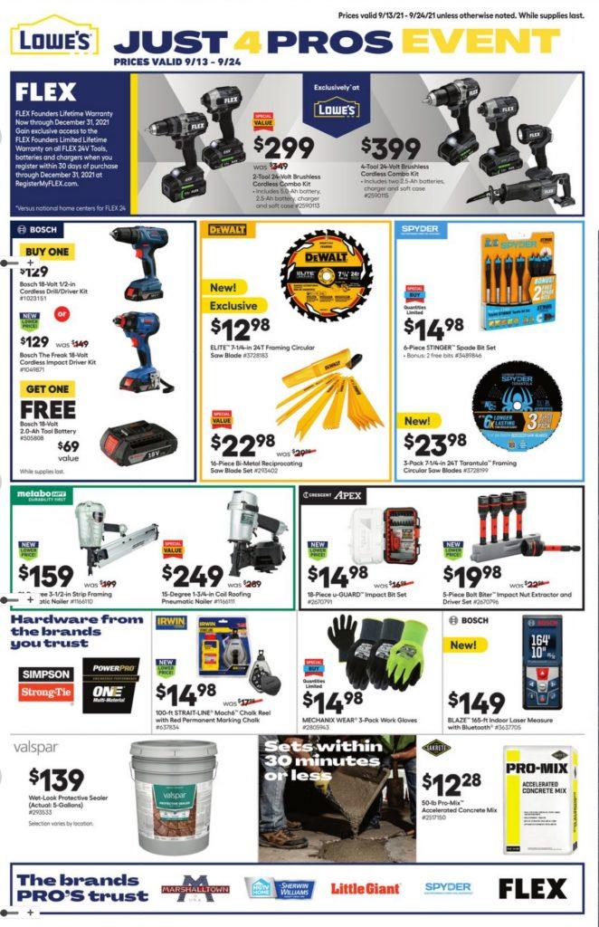 Lowe's Weekly ad Flyer September 13 - September 24, 2021