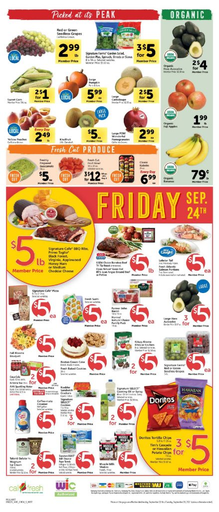 Safeway $5 Friday September 24th, 2021 Safeway Weekend Deals