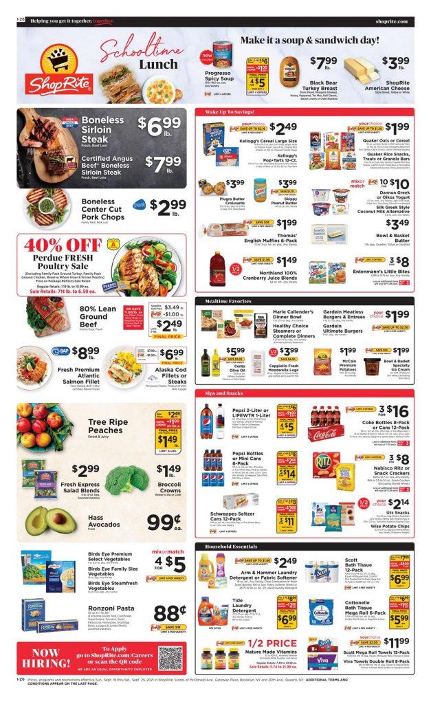 Shoprite Weekly Ad 9/19/21 - 9/25/21