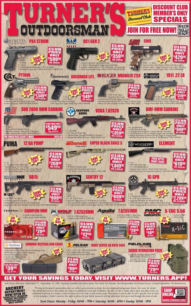 Turners Weekly ad September 17-September 23, 2021