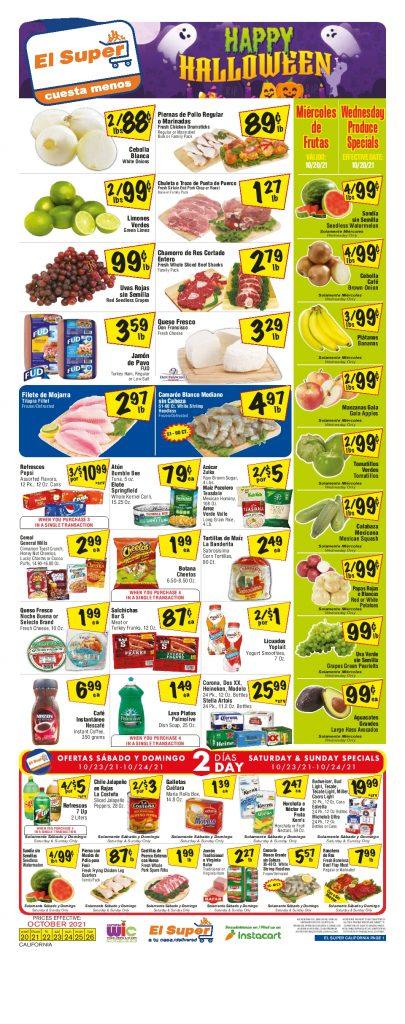 El Super Weekly ad October 20 – October 26, 2021