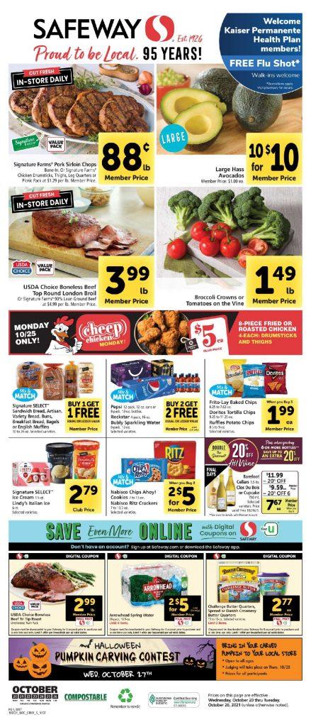 Safeway Weekly Ad 10/20/21-10/26/21