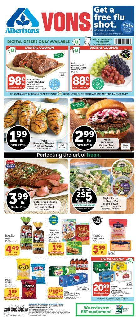 Vons Weekly Ad Flyer 10/20/21-10/26/21 Sneak Peek Preview